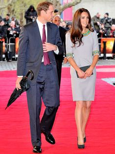 Prince William, Duke of Cambridge and Catherine, Duchess of Cambridge attend the UK Premiere of 'African Cats' in aid of Tusk at BFI Southbank on April 25, 2012 in London, England.
