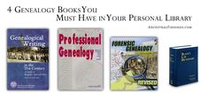 Whether you are just starting out in genealogy or are a pro, there are some reference books you always want in your genealogy library. These are books that can give you inspiration when you get to brick walls in your research, tell you about archaic historical words you may come across, and show you the best way to format your family history writing for publication. If you are just building your genealogy library, these are the four genealogy books you must have in it.