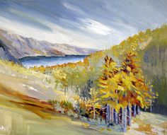"Fall, Eastern Sierra, 24 x 30"", oil on canvas"