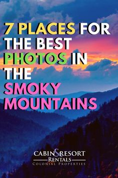 The top 7 places in the Great Smoky Mountains for the best photos and photography. The top 7 places in the Great Smoky Mountains for the best photos and photography. Gatlinburg Vacation, Tennessee Vacation, Gatlinburg Tn, Vacation Trips, Gatlinburg Tennessee Attractions, Smoky Mountains Tennessee, Smoky Mountains Cabins, Great Smoky Mountains, Appalachian Mountains