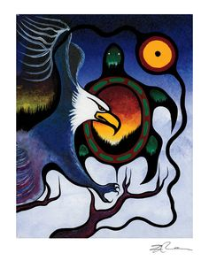 Truth by Frank Polson. Cultural Background: Algonquin, Long Point First Nations, QC