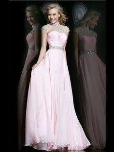 Maniche corte Lunghezza Maniche Pearl Pink Trapezio Abiti da Cerimonia in High Neck http://www.belloabito.com/maniche-corte-lunghezza-maniche-pearl-pink-trapezio-abiti-da-cerimonia-in-high-neck-p-4268