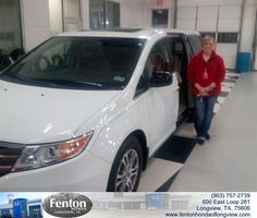 Congratulations to Pam Todd on your #Honda #Odyssey purchase from Stephanie  Rowland at Fenton Honda of Longview! #NewCar