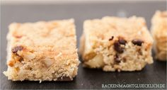 Rezept Blondies mit Macadamia Nüssen - blondies recipe