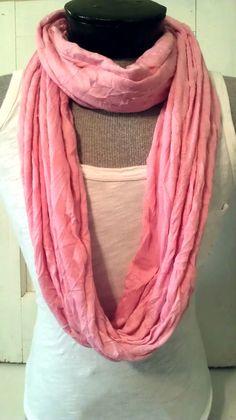 light weight Pink super soft jersey knit infinity by MsFiggys, $20.00