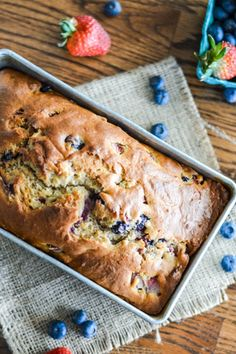 Amazing Ways to Cook with Greek Yogurt via @PureWow  Berry Greek Yogurt Bread