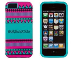 Amazon.com: DandyCase 2in1 Hybrid High Impact Hard Hakuna Matata Aztec Tribal Pattern + Teal Silicone Case Cover For Apple iPhone 5S & iPhone 5 (not 5C) + DandyCase Screen Cleaner: Cell Phones & Accessories