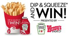 Frugal Mom and Wife: WENDY'S Dip and Squeeze and Instantly Win Game!