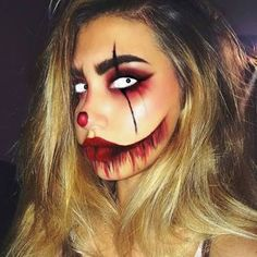No problem. These Halloween makeup ideas are all you need to pull of… No costume? No problem. These Halloween makeup ideas are all you need to pull off the ultimate last-minute costume Scary Makeup, Male Makeup, Diy Makeup, Cheap Makeup, Beauty Makeup, Skull Makeup, Makeup Hacks, Creative Makeup, Beauty Nails