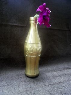 vintage collectible brass coca cola coke bottle by GarysAtticTreasure on Etsy