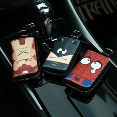 Cartoon Avengers Auto Key Bag Car Key Security Bag Car Remote Control Universal Key Case Key Case For Car Accessories Car Repair Service, Auto Service, Black Panther Character, Security Bag, Auto Key, Key Bag, Key Covers, Car Logos, Motorcycle Design
