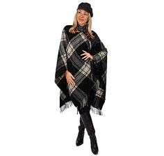 Buy V. Fraas London Plaid Ruana, V. Fraas Fashion Accessoriesand Scarves & Wraps from The Shopping Channel, Canada's home shopping network-Online Shopping for Canadians