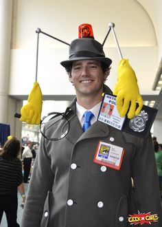 Who can we get to dress up like this?? Carlton...security???  Inspector Gadget... Oh heck yes!! <3