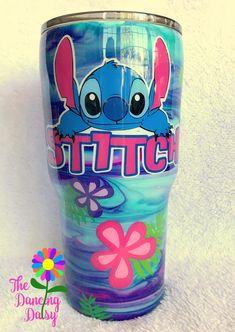 30 oz Stitch themed Disney inspired tumbler