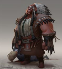 Tanka - The Buffalo Chief - by Brian Lawver