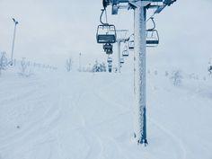 taking photos in ski lift