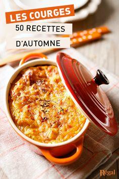 50 délicieuses recettes d'automne au potiron, courge butternut, citrouille, potimarron, etc... Un régal !