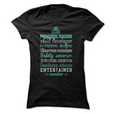 Awesome Preschool Teacher Shirt T-Shirt Hoodie Sweatshirts iua. Check price ==► http://graphictshirts.xyz/?p=58990