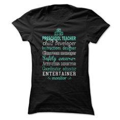 Awesome Preschool Teacher Shirt T-Shirt Hoodie Sweatshirts iua. Check price ==► http://graphictshirts.xyz/?p=58990