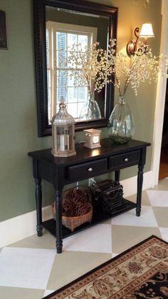 Home Decorating & Design Forum - GardenWeb Entryway Ideas, Entryway Decor, Entryway Tables, Rustic Console Tables, Small Entryways, Foyer Decorating, Beautiful Living Rooms, Recycled Crafts, Desks