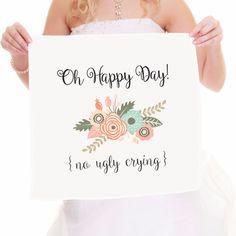 No Ugly Crying Bridal Handkercheif