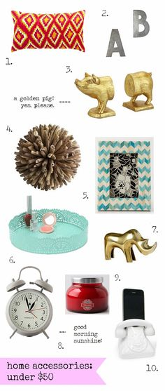 budget friendly // home accessories.