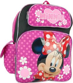 Disney Minnie Mouse 16' Large Backack ** Click image for more details. (This is an Amazon Affiliate link and I receive a commission for the sales)