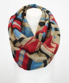 Another great find on #zulily! Khaki Tribal Blanket Infinity Scarf by Leto Collection #zulilyfinds