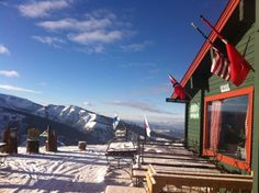 Cloud 9 Bistro, Aspen Highlands. There's nothing quite like this dining experience at the edge of heaven.