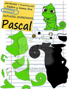 Descarga gratis nuestras plantillas para goma eva y fieltro de tus personajes favoritos: Rapunzel, Flynn, Pascal...