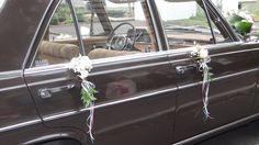 Türschmuck mit Saugnapf befestigt #oldtimer#hochzeitsauto#wedding…