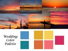 check out my seaside & sunset color inspiration board! Sunset Color Palette, Sunset Colors, Colour Pallete, Color Palettes, Sunset Beach Weddings, Beach Wedding Colors, Sunset Wedding, Wedding Design Inspiration, Color Inspiration