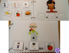 Pronouns Adapted Book for Autism and Special Education.  Healthy Habits/Healthy Foods Pronouns Adapted Book and File Folder.