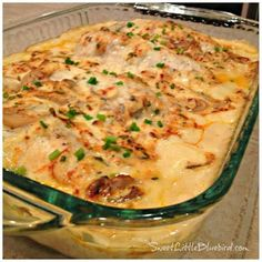 Sweet Little Bluebird: Creamy Chicken Bake; substitute milk for the water and serve over rice. Yum!