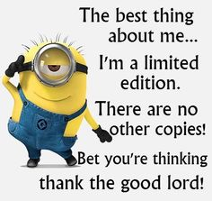 There can be only one. Minion Humour, Funny Minion Memes, Minions Quotes, Funny Jokes, Minion Sayings, Minion Love Quotes, Funniest Memes, Image Minions, Minions Images