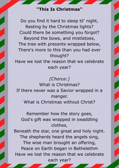 """December 6, 2015 of Jesus Birthday Celebration! Some of the lyrics of """"This Is Christmas"""" by Kutless"""