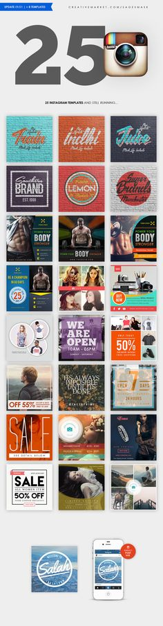 Instagram Templates by sagesmask on Creative Market