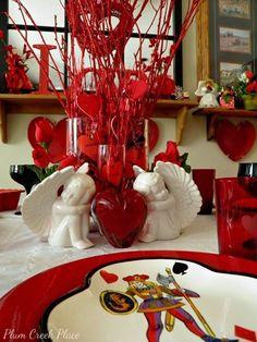 Plum Creek Place: Valentine's Day x Three Tablescape