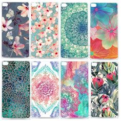 Datura mandala floral clear case cubierta de plástico duro para huawei ascend p6 p7 p8 p8 lite mini p9 p9 p10 lite Plus