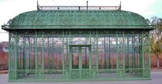Beautiful Greenhouse Pavilion Conservatory in Public Park