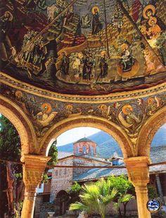 Monastery of Megisti Lavra, Holy Mount Athos, Macedonia, Greece