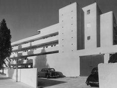 London's Isokon Building also known as the Lawn Road Flats - constructed in 1934 in Hampstead, London.