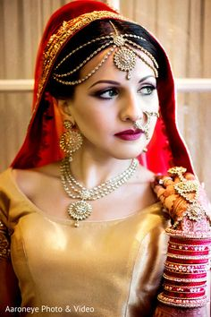 bridal hair and makeup Indian Wedding Henna, Outdoor Indian Wedding, Indian Wedding Receptions, Indian Fusion Wedding, Indian Wedding Ceremony, Traditional Indian Wedding, Indian Bridal, Wedding Bride, South Indian Bride Hairstyle