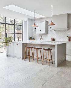 Kitchen Room Design, Modern Kitchen Design, Home Decor Kitchen, Interior Design Kitchen, Kitchen Furniture, New Kitchen, Home Kitchens, Open Plan Kitchen Dining Living, Living Room Kitchen