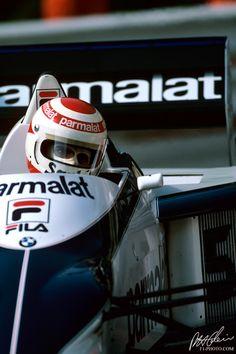 Nelson Piquet no GP de Mônaco de 1983 com sua Brabham BMW. 036c4d0e35179