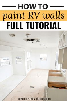 How to Paint RV Walls She shares her exact process for painting interior RV walls, ceiling and cabinets. The super easy step by step tutorial for how to paint RV walls is amazing! Pinning these RV paint and remodel ideas for later! Home Improvement Loans, Home Improvement Projects, Paint Rv, Paint Walls, Rv Makeover, Design Your Dream House, Remodeled Campers, Basement Remodeling, Remodeling Ideas