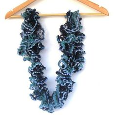 Turquoise Scarf Ruffle Scarf Lace Scarf by BestOffersBoutique Crochet Lace Scarf, Ruffle Scarf, Chiffon Scarf, Crochet Scarves, Handmade Scarves, Etsy Handmade, Scarf Sale, Scarf Design, Floral Scarf