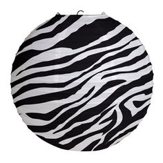 Party Souq - Zebra Stripes Paper Lantern|1 pc, $ 16.42 (http://www.partysouq.com/zebra-stripes-paper-lantern-1-pc/)