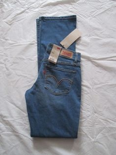 Levi's 524 Jean Slim Bootcut Leg Ultra Low Rise Medium Denim 115240111 #Levis #BootCut