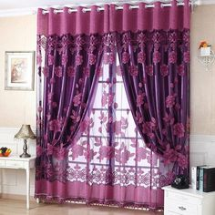 Best Price Panel Curtains 2017 Hot New Print Floral Voile Door Curtain Window Room Curtain Divider Scarf scrapbooking Luxurious Classic Print Floral Voile Door Curtain - Inspirational Clothing and Accessories Promotion CM Home Decoration Sheer Window Curt Tulle Curtains, Home Curtains, Curtains Living, Printed Curtains, Pattern Curtains, Grommet Curtains, Curtain Divider, Curtain For Door Window, Window Curtains